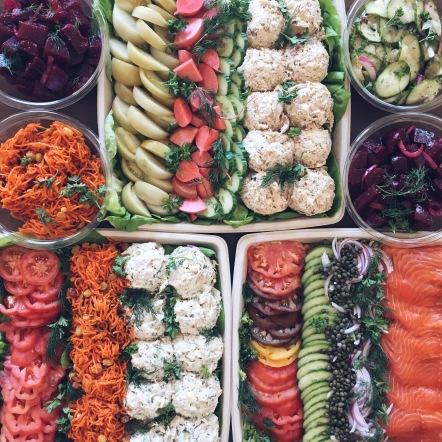 Deli Platters - Gravlax, Smoked Fish, Chicken Salad